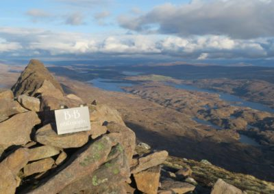 On the top of the Suilven
